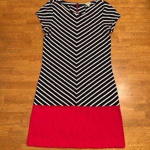 Hatley Nautical Stripe Navy White and Red Dress